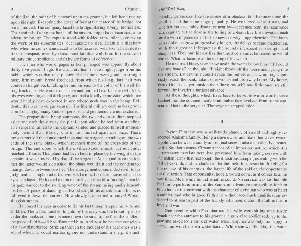 "Robert C Evans Annotated Critical Edition of ""An Occurrence at"