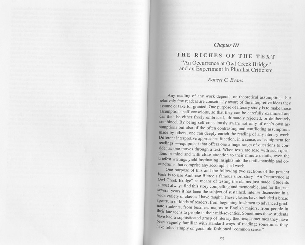 robert c evans annotated critical edition of an occurrence at robert c evans annotated critical edition of an occurrence at owl creek bridge