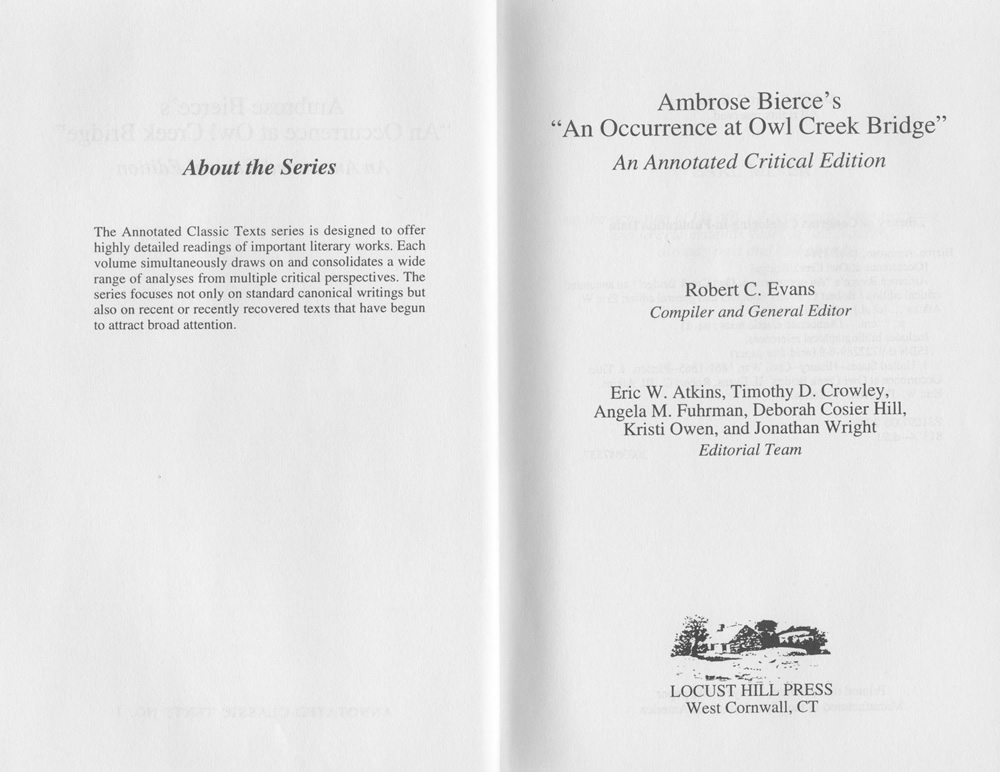 an occurrence at owl creek bridge point of view essay 0/20 - not completed this was not completed brendan, so you don't get any credit for it literary analysis: point of view an occurrence at owl creek bridge - ambrose bierce.