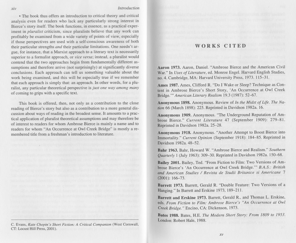 robert c evans annotated critical edition of an occurrence at   view photograph of page